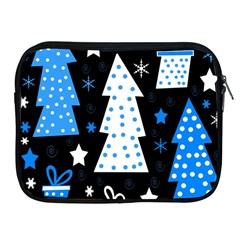 Blue playful Xmas Apple iPad 2/3/4 Zipper Cases