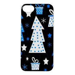 Blue playful Xmas Apple iPhone 5S/ SE Hardshell Case