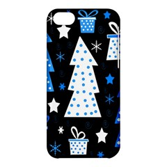 Blue playful Xmas Apple iPhone 5C Hardshell Case