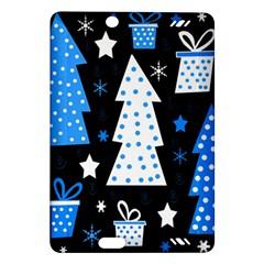 Blue playful Xmas Amazon Kindle Fire HD (2013) Hardshell Case
