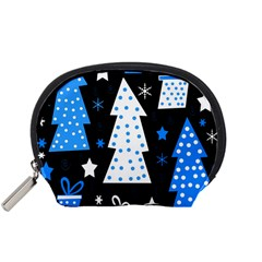 Blue playful Xmas Accessory Pouches (Small)
