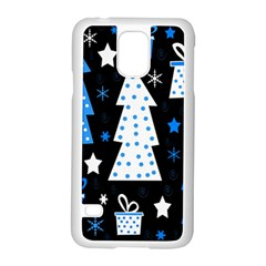 Blue playful Xmas Samsung Galaxy S5 Case (White)