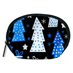 Blue playful Xmas Accessory Pouches (Medium)