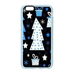Blue playful Xmas Apple Seamless iPhone 6/6S Case (Color)