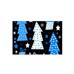 Blue playful Xmas Satin Wrap