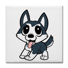 Pomsky Cartoon Tile Coasters