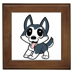 Pomsky Cartoon Framed Tiles