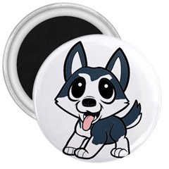 Pomsky Cartoon 3  Magnets