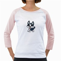 Pomsky Cartoon Girly Raglans