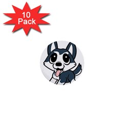 Pomsky Cartoon 1  Mini Buttons (10 pack)