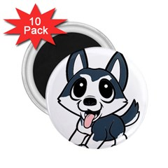 Pomsky Cartoon 2.25  Magnets (10 pack)