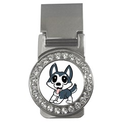 Pomsky Cartoon Money Clips (CZ)