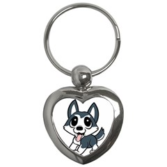 Pomsky Cartoon Key Chains (Heart)