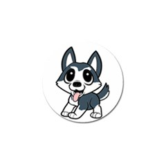 Pomsky Cartoon Golf Ball Marker