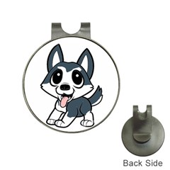 Pomsky Cartoon Hat Clips with Golf Markers
