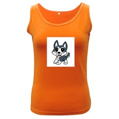 Pomsky Cartoon Women s Dark Tank Top
