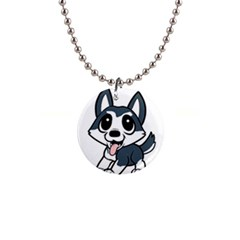 Pomsky Cartoon Button Necklaces