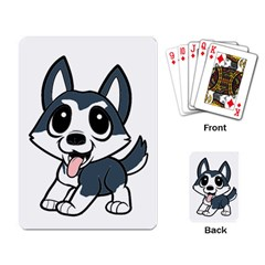 Pomsky Cartoon Playing Card