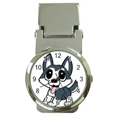 Pomsky Cartoon Money Clip Watches