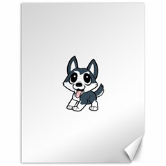 Pomsky Cartoon Canvas 12  x 16