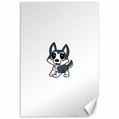 Pomsky Cartoon Canvas 12  x 18