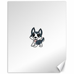 Pomsky Cartoon Canvas 16  x 20