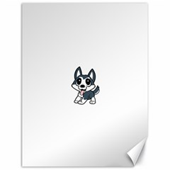 Pomsky Cartoon Canvas 18  x 24