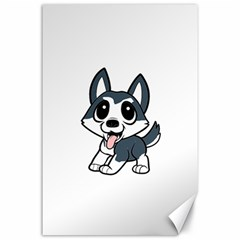 Pomsky Cartoon Canvas 24  x 36