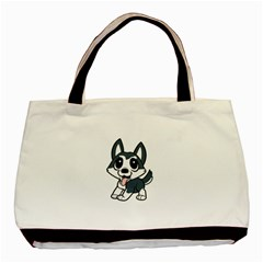 Pomsky Cartoon Basic Tote Bag (Two Sides)