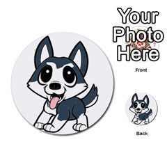 Pomsky Cartoon Multi-purpose Cards (Round)