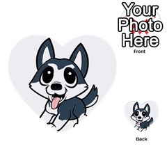 Pomsky Cartoon Multi-purpose Cards (Heart)