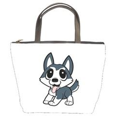 Pomsky Cartoon Bucket Bags