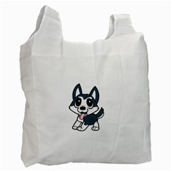Pomsky Cartoon Recycle Bag (Two Side)