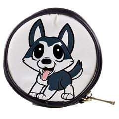 Pomsky Cartoon Mini Makeup Bags
