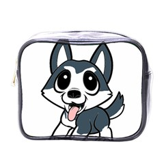 Pomsky Cartoon Mini Toiletries Bags