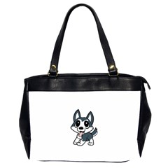 Pomsky Cartoon Office Handbags (2 Sides)