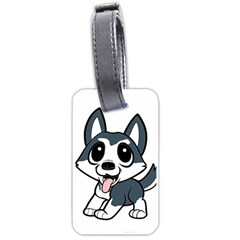 Pomsky Cartoon Luggage Tags (Two Sides)