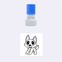Pomsky Cartoon Rubber Round Stamps (Small)