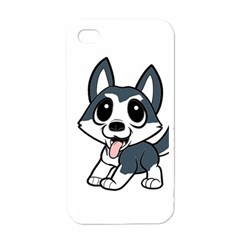 Pomsky Cartoon Apple iPhone 4 Case (White)