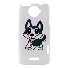 Pomsky Cartoon HTC One X Hardshell Case