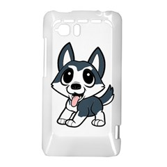 Pomsky Cartoon HTC Vivid / Raider 4G Hardshell Case