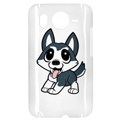 Pomsky Cartoon HTC Desire HD Hardshell Case