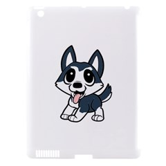 Pomsky Cartoon Apple iPad 3/4 Hardshell Case (Compatible with Smart Cover)