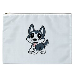 Pomsky Cartoon Cosmetic Bag (XXL)