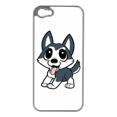Pomsky Cartoon Apple iPhone 5 Case (Silver)