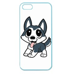 Pomsky Cartoon Apple Seamless iPhone 5 Case (Color)