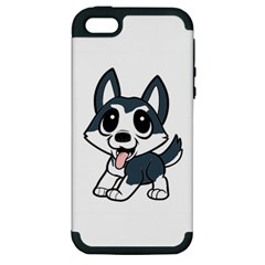 Pomsky Cartoon Apple iPhone 5 Hardshell Case (PC+Silicone)