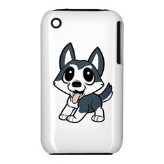 Pomsky Cartoon Apple iPhone 3G/3GS Hardshell Case (PC+Silicone)