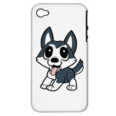 Pomsky Cartoon Apple iPhone 4/4S Hardshell Case (PC+Silicone)
