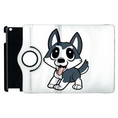 Pomsky Cartoon Apple iPad 2 Flip 360 Case